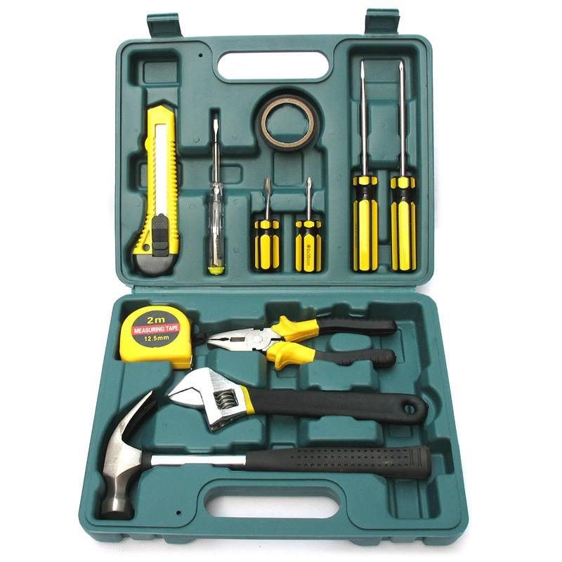 车载维修应急 汽车用品 工具箱 家用组合工具12件 五金组合套装